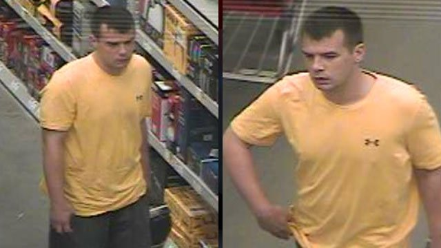 Spartanburg police say this man stole a drill from a Lowe's store. (Spartanburg Public Safety Dept./April 4, 2012)