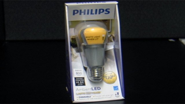 A new, state-of-the art LED light bulb by Phillips claims it will last 20 years. (April 23, 2012/FOX Carolina)