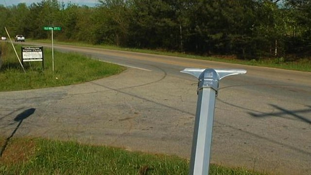 All that's left of the historic Willie Earle marker. (April 24, 2012/FOX Carolina)