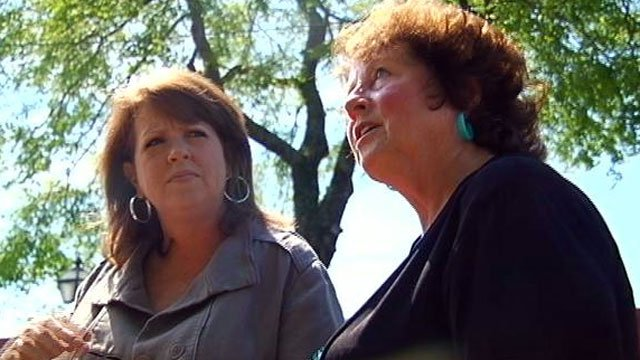 Susann Griffin (left) and her biological mother, Marilyn Berry (right) talk about their meeting for the first time in 44 years. (April 26, 2012/FOX Carolina)
