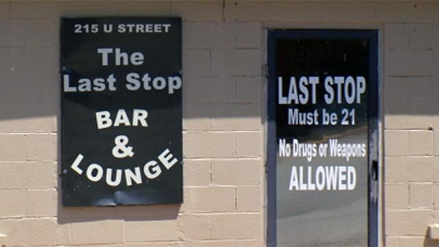 The Last Stop Bar & Lounge is located on U Street in Honea Path. (April 29, 2012/FOX Carolina)