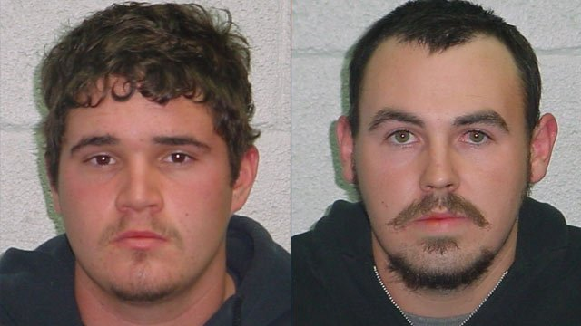 From left to right: Michael Conner and Ryan Gilmer. (Forest City Police Dept.)
