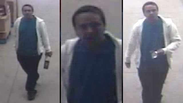 Spartanburg police said this man stole a laptop from the Dorman Centre Walmart. (Spartanburg Public Safety Dept.)
