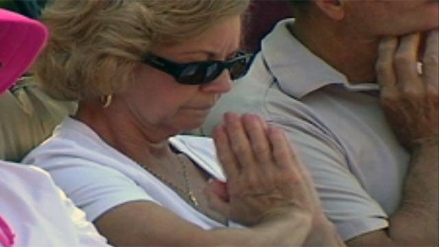 A woman prays at a National Day of Prayer event. (File/FOX Carolina)