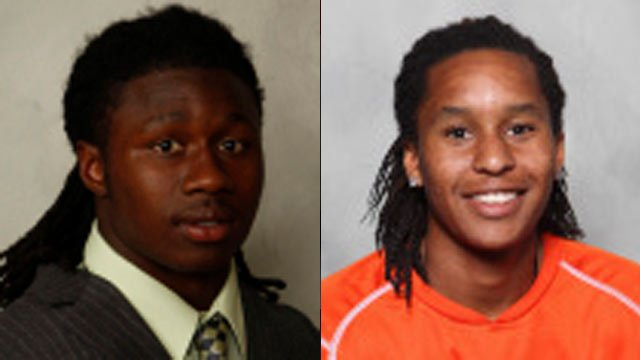 From left to right: Sammy Watkins and Amadou Dia (Clemson University Athletics)