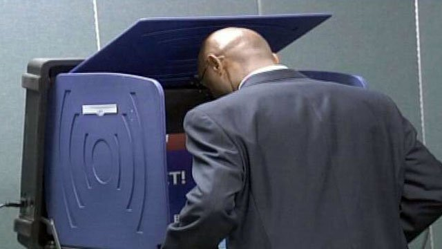 An Upstate voter casts a vote on Election Day. (File/FOX Carolina)