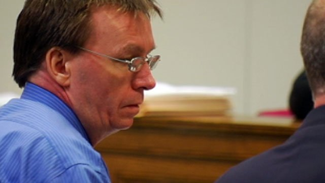 Walter Lance listens to testimony during his trial in a Spartanburg courtroom. (May 7, 2012/FOX Carolina)