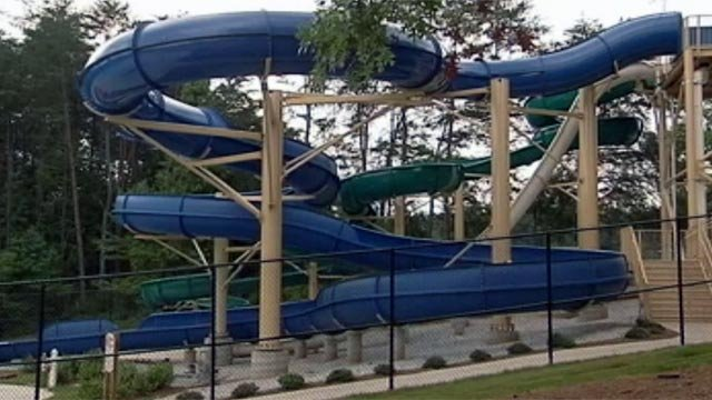 A water slide at Otter Creek Waterpark. (File/FOX Carolina)