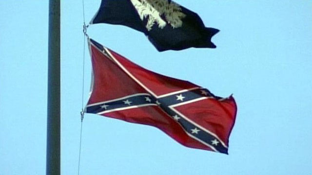 A Confederate flag waves below the state flag of South Carolina. (File/FOX Carolina)