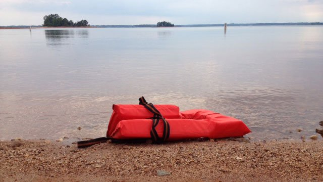 A life vest lays along the shores of Lake Hartwell. (May 12, 2012/FOX Carolina)
