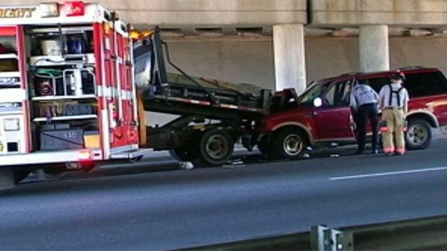 Scene of the deadly crash where police say Misty Dawson ran into the SCDOT worker's truck, killing him. (File/FOX Carolina)