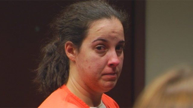 Misty Dawson appears before a judge to plead guilty in the deadly 2011 crash. (May 14, 2012/FOX Carolina)