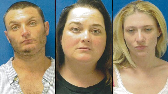 From left: Jamie Martin, Felicia Caldwell and Halie Gregory. (Cherokee Co. Sheriff's Office)