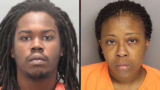 From left: Byron Robinson and Jasmine McGee (Greenville Co. Sheriff's Office)