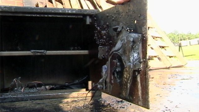 One of the safes tested to see how it would withstand a fire. (File/FOX Carolina)