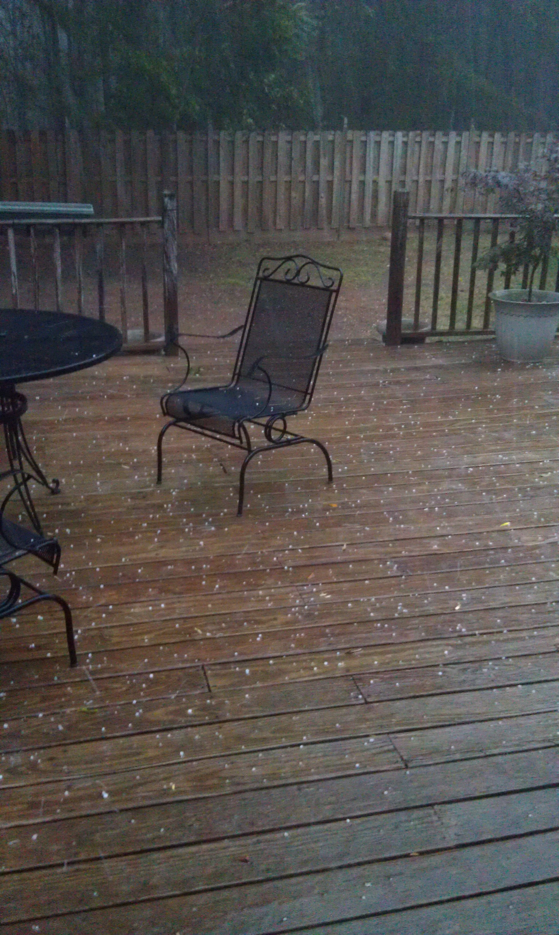 Hail in Simpsonville from Mark