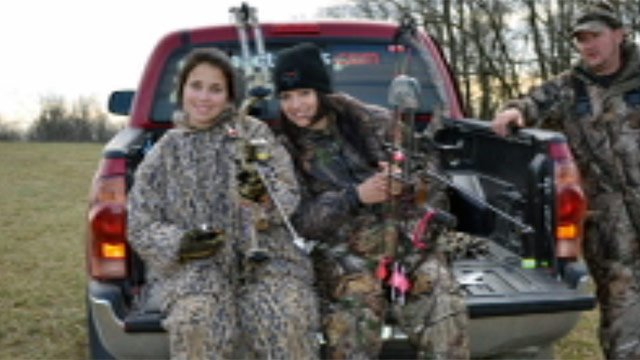Ashley Sewell and Danielle Worthen on a hunting trip. (Courtesy Sewell and Worthen)
