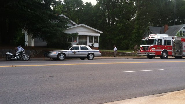 Emergency crews are parked at the scene of a fatal crash in Spartanburg County. (May 24, 2012/FOX Carolina)