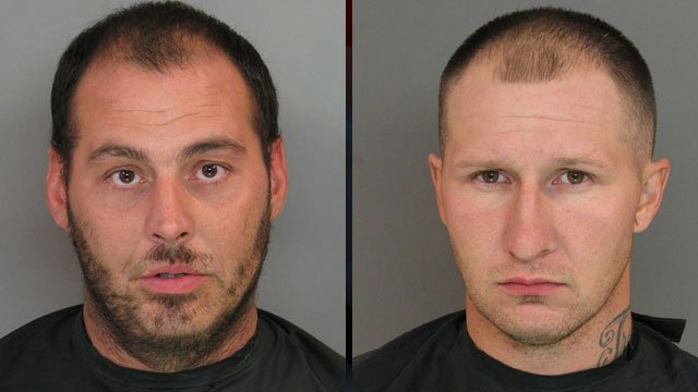 From left: Jason Hughes and Travis Foster. (Anderson Co. Sheriff's Office)