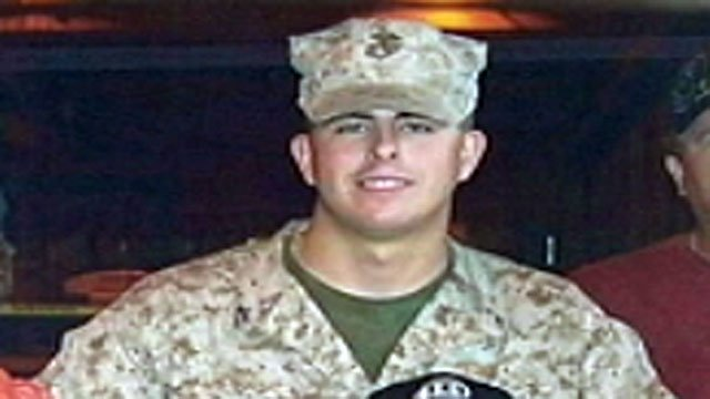 Lance Cpl. Chris Fowlkes is seen here in this undated photograph. (File/FOX Carolina)