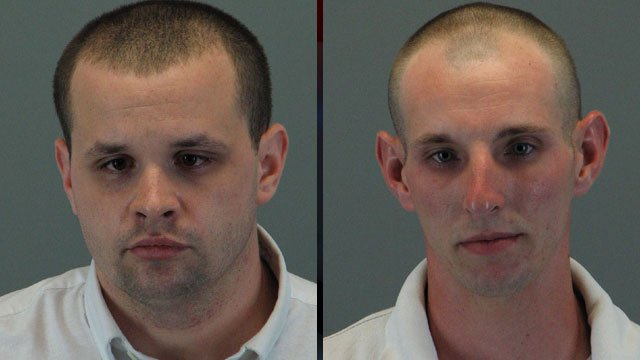 From left: Christopher McCall and Christopher Debusk. (Travelers Rest Police Dept.)