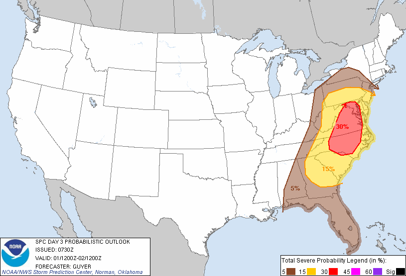 Severe threat Friday