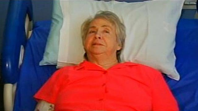 Louise Thompson is still recovering from necrotizing fasciitis at Roger C. Peace Rehabilitation Hospital. (June 1, 2012/FOX Carolina)