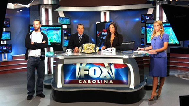 CM Punk appears on The Morning News. (June 4, 2012/FOX Carolina)