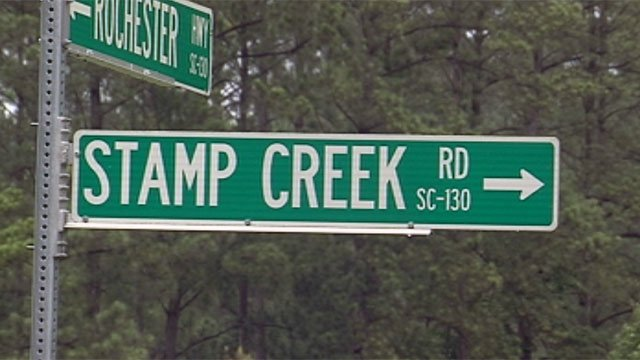 The coroner says a Salem man's heart condition led to a crash along Stamp Creek Road on Saturday. (June 10, 2012/FOX Carolina)