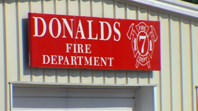The Donalds Fire Department is located in Abbeville County. (June 8, 2012/FOX Carolina)