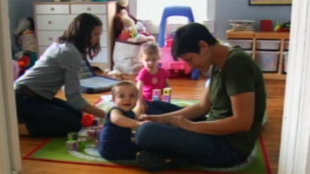 Crystal Hendrix and partner Leigh Smith spend time with their children. (June 14, 2012/FOX Carolina)