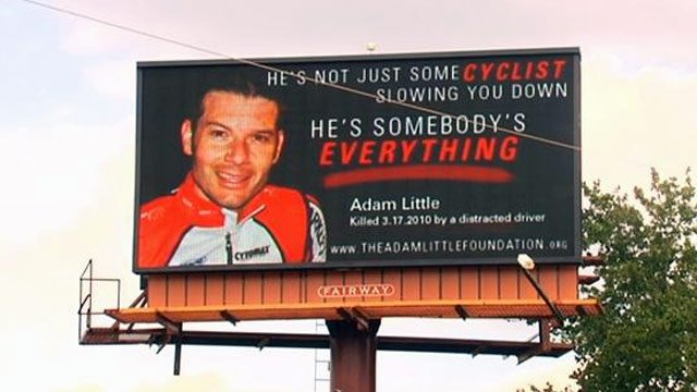 The billboards seen across the Upstate warning drivers to use caution around cyclists. (June 15, 2012/FOX Carolina)