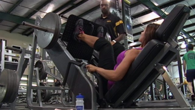 Catherine DuPont works out at Coops Fitness. (File/FOX Carolina)