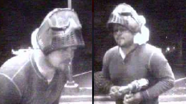 Greer police say the man in these pictures used a drill to bore into an ATM. (June 19, 2012/Greer Police Dept.)