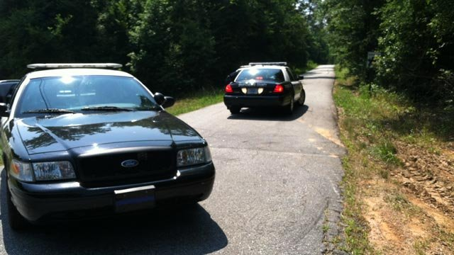 Deputies shutdown Blanchard Road during their investigation. (June 23, 2012/FOX Carolina)