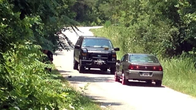 The gold car deputies say two people were found in. (June 23, 2012/FOX Carolina)