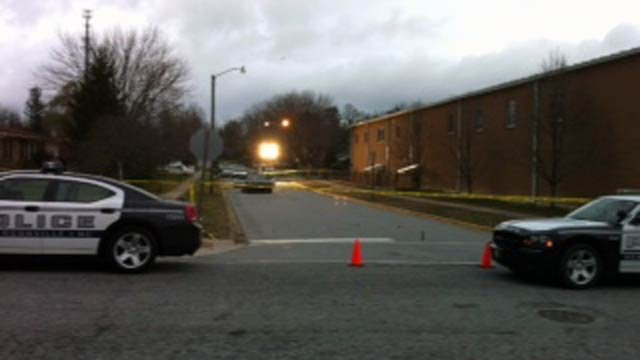 Scene of the shooting along Woodcock Drive in Hendersonville Thursday morning. (Mar. 8, 2012/FOX Carolina)