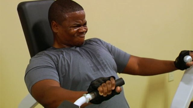 FOX Carolina's Greg Funderburg works out with his trainer. (File/FOX Carolina)