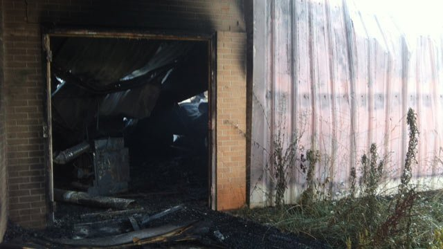 Damage from Tuesday's fire at the Anderson Boys & Girls Club. (June 26, 2012/FOX Carolina)