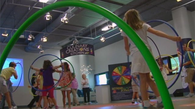Kids participate in the C.A.T.C.H. exhibit. (June 26, 2012/FOX Carolina)