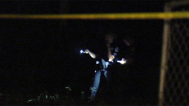 Deputies investigate the shooting at a home Carling Drive in Anderson. (June 26, 2012/FOX Carolina)