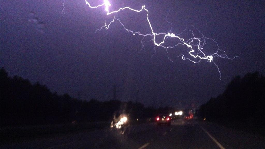 Storms last night near Simpsonville, from Stacey and Madison Jones