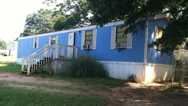 The home on Burris Street where deputies say a teenage girl was shot Sunday night. (July 9, 2012/FOX Carolina)