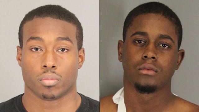 From left to right: James Johnson Jr. and Jalek Miller (Spartanburg Public Safety Dept.)