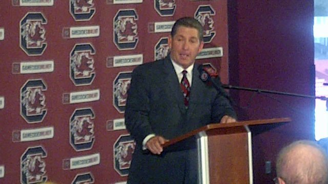 Ray Tanner is announced as the new athletics director of the University of South Carolina. (July 13, 2012/FOX Carolina)