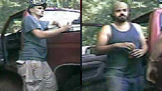 Deputies say these men stole an air compressor and then sold it to a scrap yard. (Anderson County Sheriff's Office)
