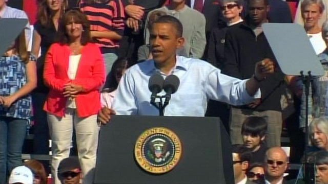 President Barack Obama speaks in Asheville, NC. (File/FOX Carolina)