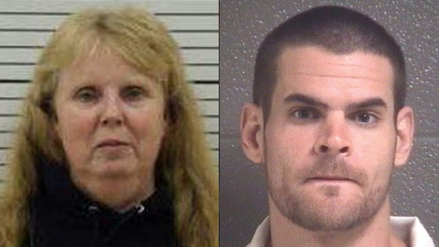 Karen Barnett (left) and Lazaro Perez. (Asheville Police Dept.)
