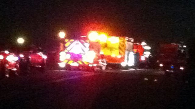 Emergency crews at a tanker spill in Belton. (July 20, 2012/FOX Carolina)
