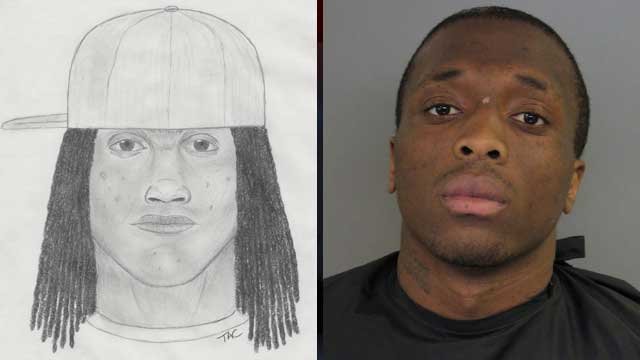 "The sketch of a man (left) and a picture of Quentin ""Que"" Dean who deputies say were involved in a home invasion. (Anderson Co. Sheriff's Office)"
